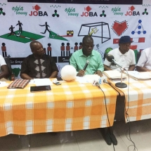 1 Dr. Bonnyface Opia proclaiming the new sport at the press briefing 1