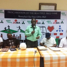2 Dr. Bonnyface Opia explaining some points at the press briefing 4