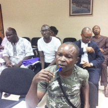 4 Cross section of audience at the press briefing (2)