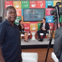 At SDG Media Zone for UN Solutions Summit (1)