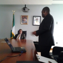 Pix 1 Meeting with Nigerian Ambassador to US