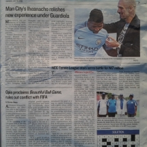 Publication of game in Guardian